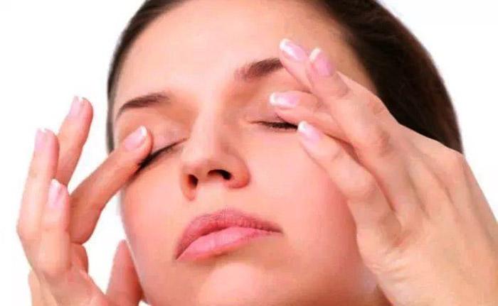 5. Massage eyelids