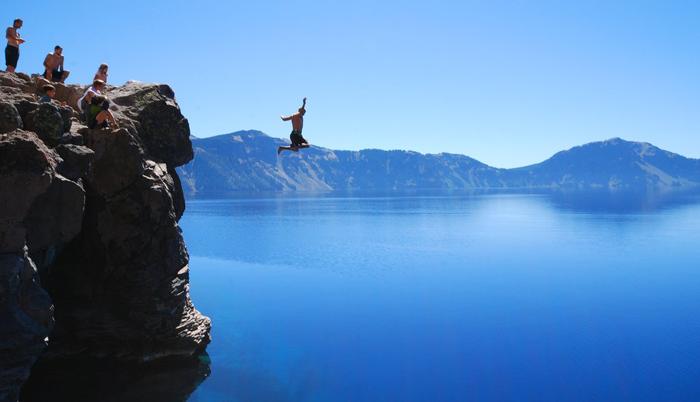 5. Go cliff jumping in Hampi.
