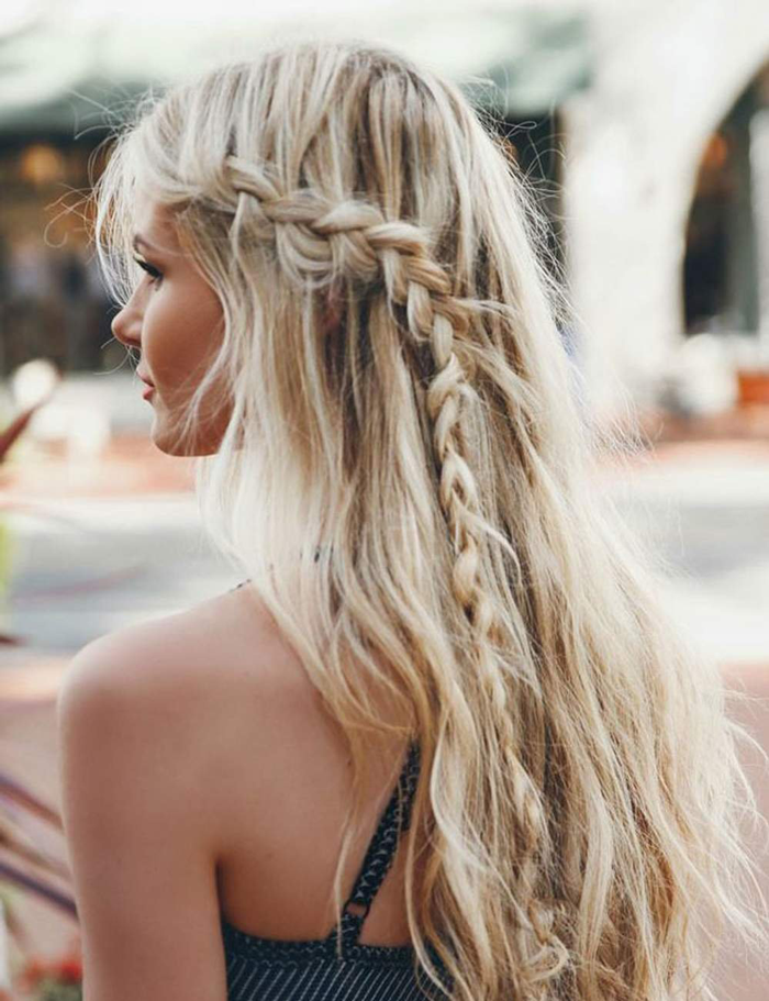 5. Boho braid hairstyle
