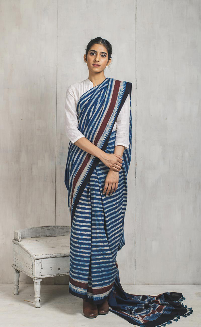 5. Keeping your pallu too long or too short is a big NO. It is disastrous and pretty uncomfortable. Pre-pleat your saree even before your start draping it around your waist, to avoid this situation. Keep your pallu mid-length.