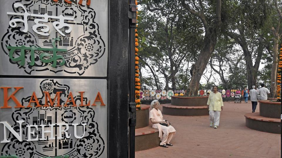 People visit kamala Nehru Park at Malabar hill in mumbai