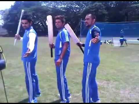 Raina, Kohli and Dhoni shooting for a commercial