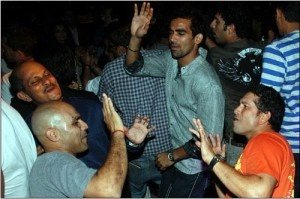 Sachin, Sehwag and Zaheer dancing