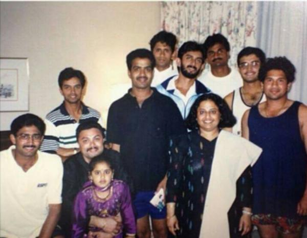 Team India during Titan Cup in Kumble's house