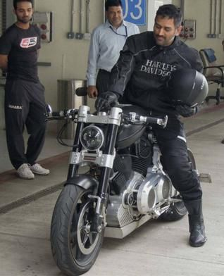 Dhoni is a known biking aficionado. Here he is after riding X 132 Hellcat Bike on the Buddh International Circuit.