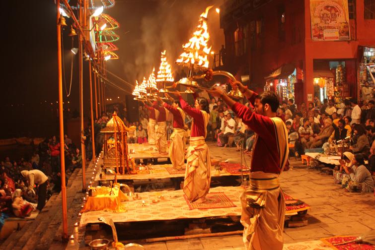Witness Ganga Aarti at Varanasi