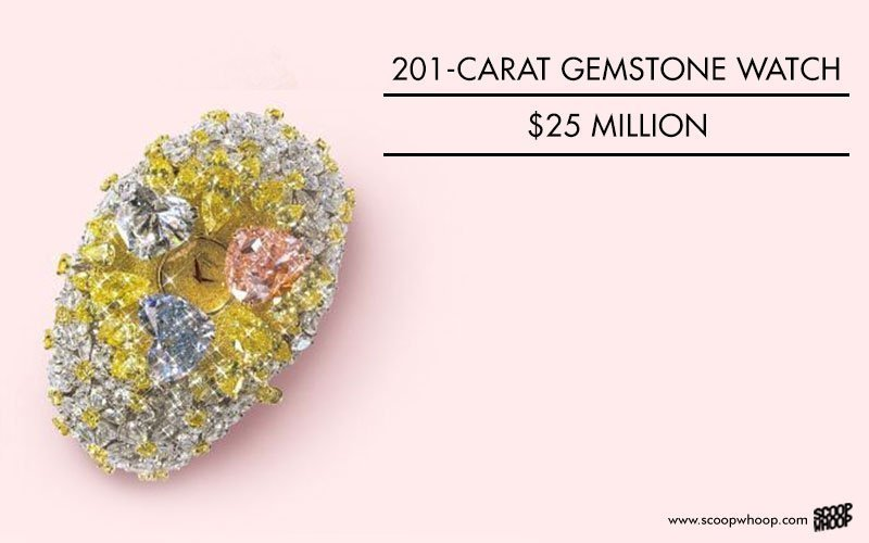 201-carat gemstone watch, 25 million USD