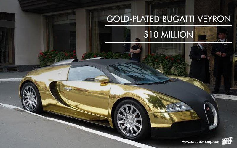 Gold-plated Bugatti Veyron, 10 million USD