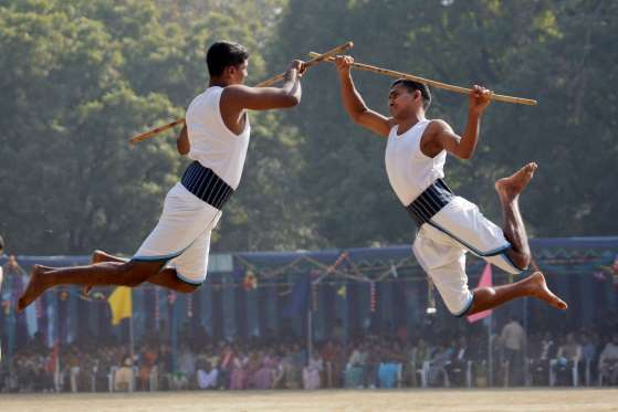INDIA IS HOME TO A NUMBER OF MARTIAL ART FORMS