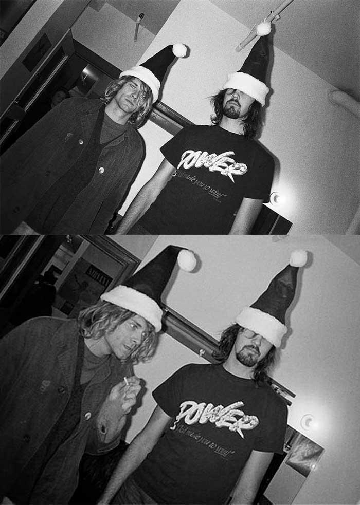 Kurt Cobain and Krist Novoselic