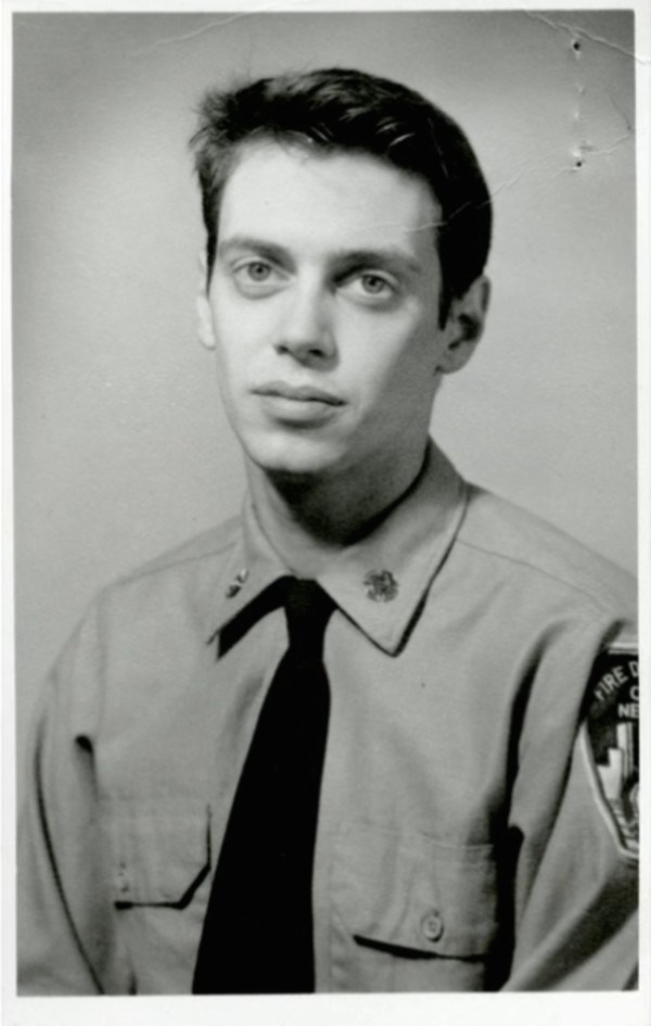 Steve Buscemi during his days as a New York firefighter [1976].