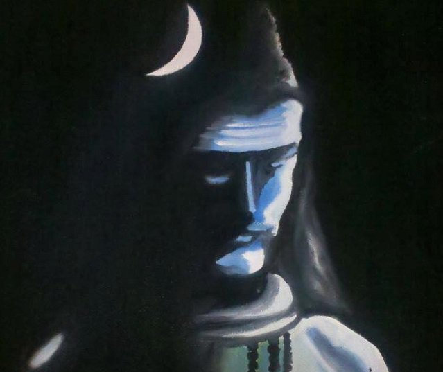 The ash Shiva is smeared with symbolizes permanence and destruction