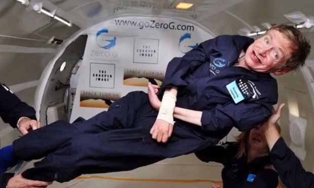 Scientists took him to a zero gravity shuttle once just to lift him from his wheelchair and make him happy.