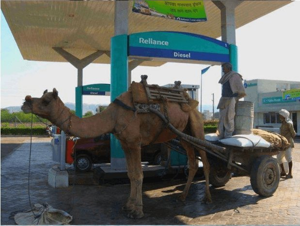 This vehicle that needs camel power and not horse power. .
