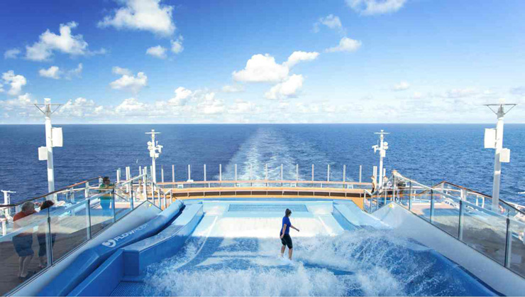 The ship carries the legacy of Harmony of the Seas and has The Ultimate Abyss, two FlowRider surf simulators, a zip line, twin 40-foot rock climbing walls, ice skating rink and the AquaTheater. Notably, though, it has 28 more staterooms than its sister ship.