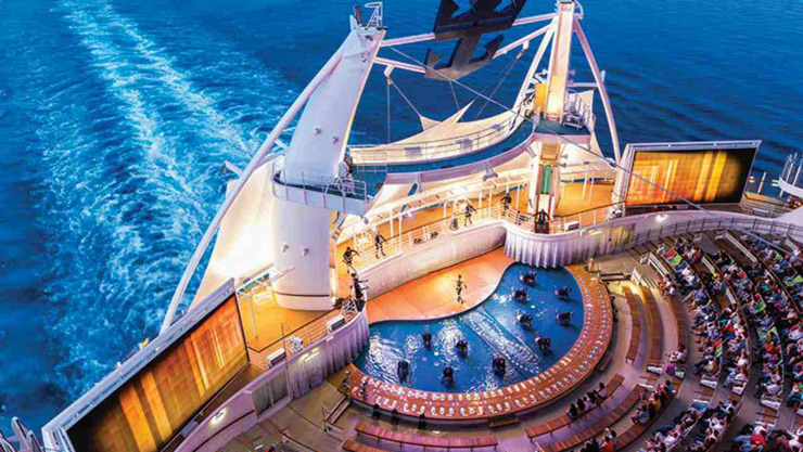 The ship is built by the French shipbuilder STX and it took two years to construct. It is the 13th ship which the company has built for Royal Caribbean. The Symphony of the Seas will debut its cruising services from the already sold out April 7 sailing.