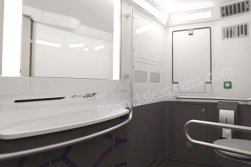 The modular toilets will have aesthetic touch-free bathroom fittings.