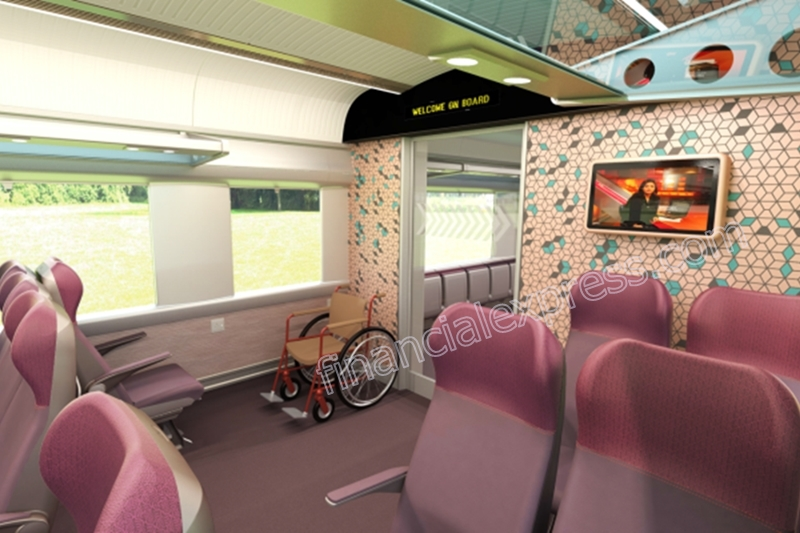 Train 18 coaches will also have space to park wheel chairs - a step aimed at making the train sets friendly for disabled passengers.
