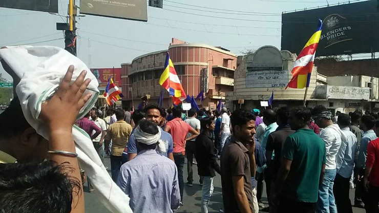 Hundreds of protesters marched in unity against the dilution of the SC/ST Prevention of Atrocities Act following a Supreme Court order.