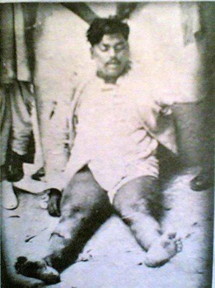 13. A photo of Martyr Chandrashekhar Azad after he was killed.