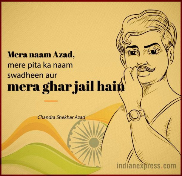 This remains one of the most famous quotes by Chandra Shekhar Azad.
