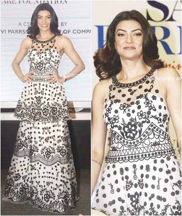 MISS: While Sushmita Sen manages to leave us impressed with her elegant sartorial choices at most times, her latest outing in a Notte Marchesa number failed to hit the mark.