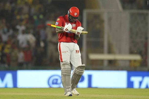 Chris Gayle slammed a 22-ball 50 and weaved a 96-run opening partnership alongside Rahul setting up the platform for a big score. He was awarded the man of the match.