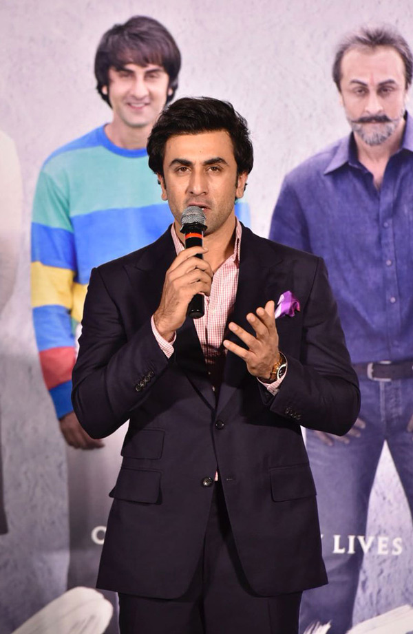 Ranbir Kapoor interacts with media during the trailer launch of