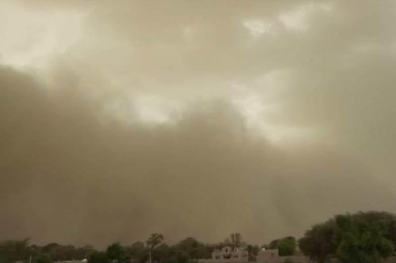 Massive sandstorm hit Bikaner