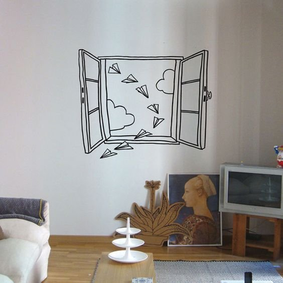8. Design walls that will reflect the artist in you