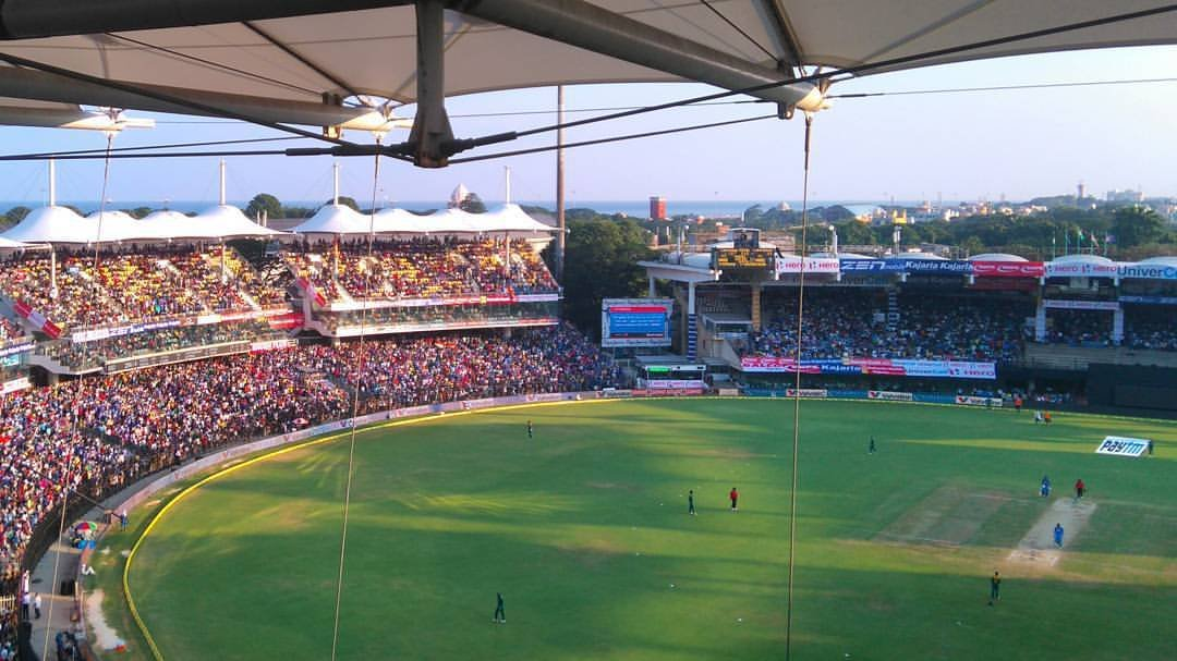 10. Witnessing an India match at the Chepauk Stadium