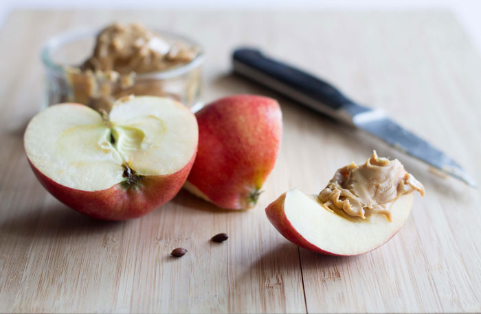 5. Instead of desserts, have apple and peanut butter to satisfy that sweet tooth.