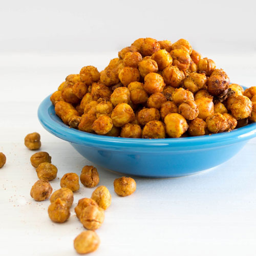 7. Ditch your fried snacks and munch on roasted chickpeas.