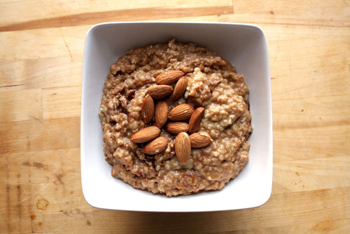 8. Instead of eating Maggi, have low-sugar oatmeal with nut butter.