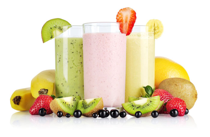 11. Instead of soft drinks, have protein shake with a piece of fruit.