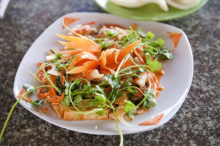 8. Raw Papaya & Sweet Chilli with Tender Coconut Dressing