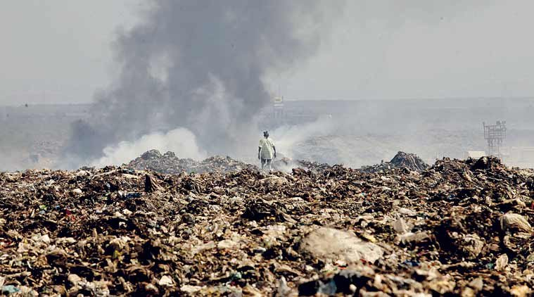 9. Delhi has become a big pile of garbage over time.