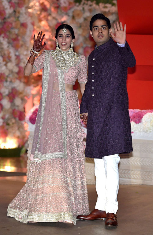 Shloka Mehta and Akash Ambani.