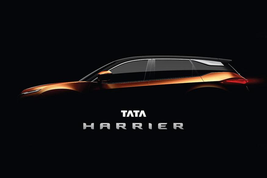 Tata Harrier side profile teased.