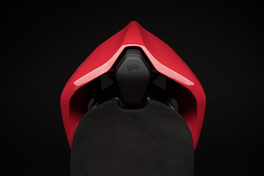 Ducati Panigale V4 gets a neat rear seat cowl.