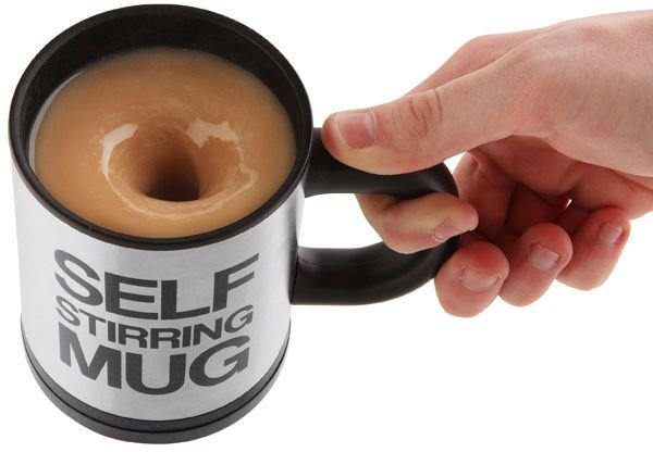 12. Laziness is the father of invention and this self-stirring mug is a proof. No spoon. No noise. No work. You can get one from here.