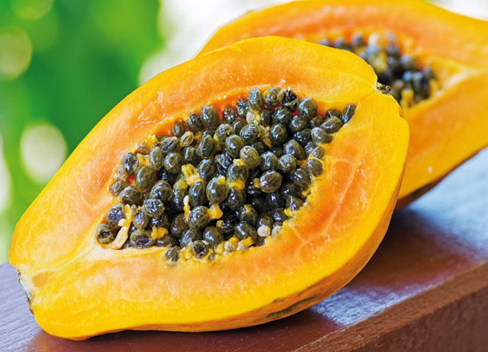 8. Papaya is rich in Vitamin A that prevents degeneration of vision by improving eye sight.