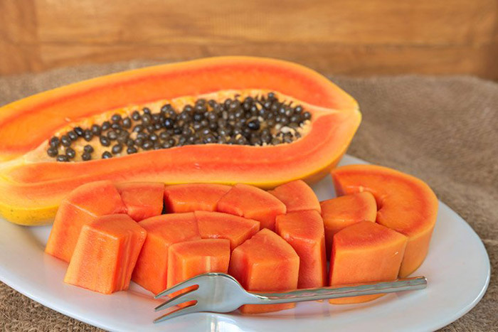9. Having papaya helps in easing nausea and motion sickness as it is rich in Vitamin C, Vitamin E and folate.