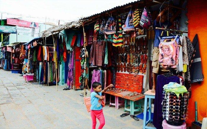 8. Go shopping at Hampi Bazaar.
