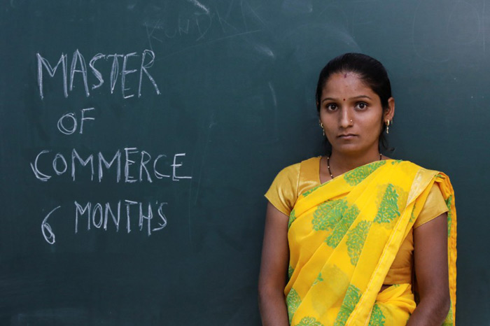 "Kajal Ithape, a 25-year-old Master of Commerce (M. Com): ""I had to leave my job as I wanted to take leave for one year after I had a baby. I have been trying to look for an accountant job for the last 6 months but without any luck."""