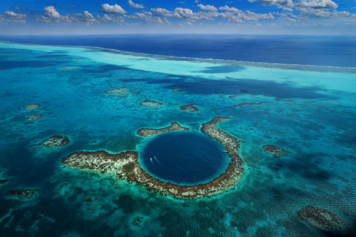 Great Blue Hole, Belize It's 407 feet deep and it might just have the least inspired name in the world. It rose to fame after it was named as one of the best diving locations in the world and it's actually currently being used for research about life in the ocean.