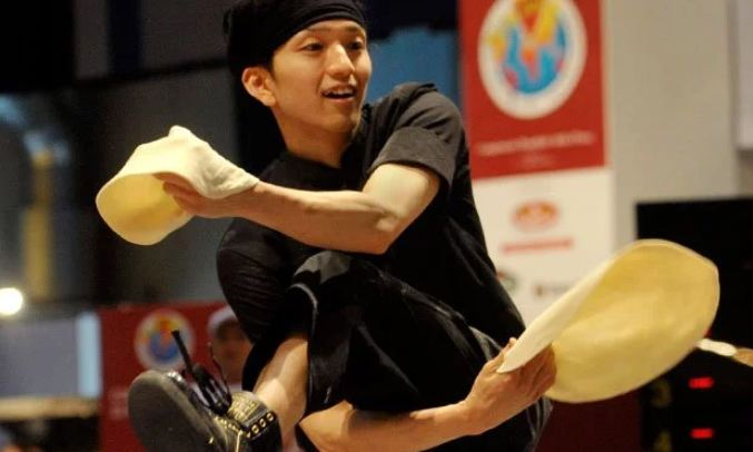 14. There is a World Pizza Championship that holds five different kinds of competitions that are - Freestyle Acrobatic Dough Tossing, Fastest Dough, Largest Dough Stretch, Fastest Pizza Box Folding and the Pizza Triathlon.