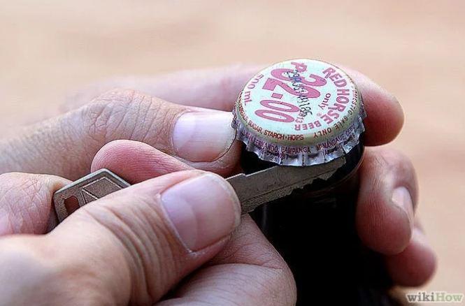 13. Keys House keys, car keys, any key will serve as a bottle opener.