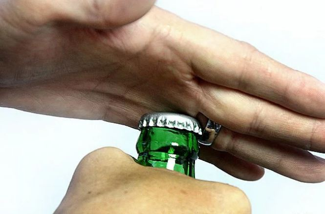 15. Ring Your ring can prove a useful bottle-opener. Just make sure you don