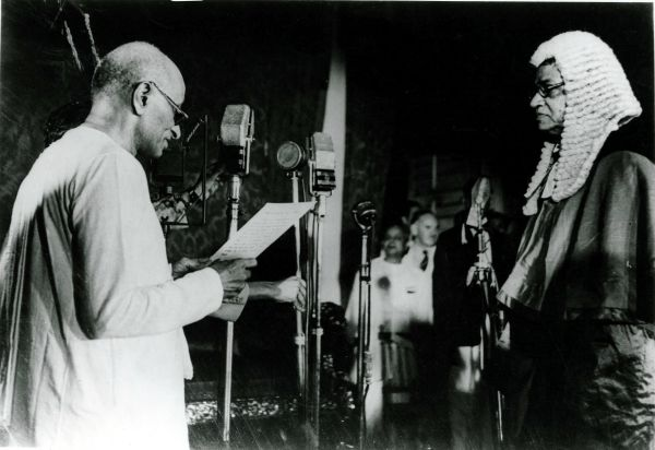 August 15, 1947: C Rajagopalachari takes the oath of first Governor General of the independent India